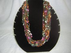 Multicolored Crocheted Necklace by Code4Inc on Etsy, $6.00