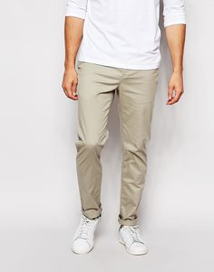 ASOS Slim Chinos In Light Green saved by #ShoppingIS