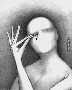 opening your eyes can be painful...