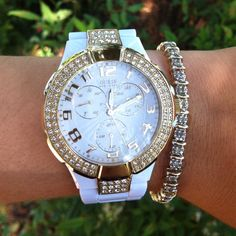 GUESS watch, white polycarbon <3 absolutely love it!