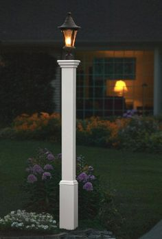 lamp post - a little detail is nice, solar lamp need no wiring, goes on at dusk off at dawn