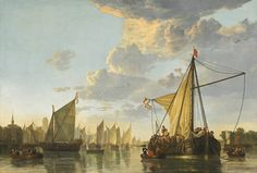 "Aelbert Cuyp, ""The Maas at Dordrecht,"" c. 1650, oil on canvas, National Gallery of Art, Washington, Andrew W. Mellon Collection"