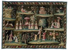 So exquisite yet whimsical! A very rare George I century chinoiserie Soho tapestry- 1715 - probably designed & woven under the direction of John Vanderbank. by pompthatcircumstance Castle Howard, Rococo Style, Western Art, 18th Century, Find Art, Art Decor, Medieval, Whimsical, Tapestry