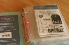 Anyone in the mood to get organized? Sharyn Tormanen shares her stamp organization system. The details are all on her blog!