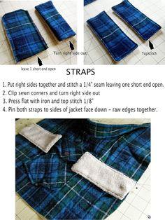 DIY Pet Coat Pattern – Sewing it Together!   bevykona