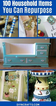 Repurpose and Reuse Broken Household Items with this list of 100 incredible ideas! There are tons of great ways to make junk into treasure here! These upcycled craft ideas are incredible! You'll love the fun ways to repurpose broken items and turn them into home decor! #Upcycled #Repurposed #Recycled #Crafts #EasyCrafts Recycled Paper Crafts, Upcycled Crafts, Diy Home Crafts, Holiday Crafts, Easy Crafts, Medicine Bottle Crafts, Craft Projects, Craft Ideas, Recycling Projects