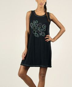 Look at this #zulilyfind! Black Embroidered Bubble Shift Dress by Aller Simplement #zulilyfinds