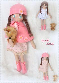 Doll for play - Soft Dolls, Doll Clothes, Teddy Bear, Play, Toys, Handmade, Animals, Art, Activity Toys