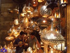 Cairo ,  Khan El Khalili  Street - one  of  the  most  famost  street  in  Old  Cairo