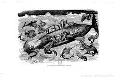 """Albert Robida, « Les grandes chasses sous-marines », in : """"Le vingtième siècle"""", Paris, G. Decaux, 1883"""