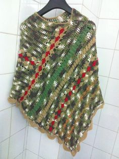 Crochet poncho Lovely unique poncho Poncho by CristinaMyCrochet Crochet Poncho, Knitted Shawls, Crochet Clothes, Scarves, My Etsy Shop, Cowls, Knitting, Trending Outfits, Crocheting