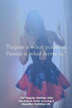 Inspirational quote on passion, from HerAfter. Find more inspirational quotes and empowering thoughts to tell yourself when stress hits, click to read!