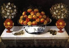 Oil Painting Hiepes Tomas Delft Fruit Bowl And Two Vases 1642 Printing On Polyster Canvas 16 X 23 Inch 41 X 58 Cm the Best Kitchen Gallery Art And Home Gallery Art And Gifts Is This High Quality Art Decorative Prints On Canvas Delft, Madrid, Still Life Fruit, Baroque Art, Fruit Painting, Fruit Dishes, Spanish Painters, Kitchen Gallery, Museum