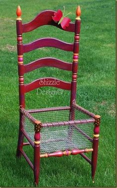 How to turn an old chair into a planter box... http://shizzle-design.com/2011/10/ill-never-forget-phone-call.html