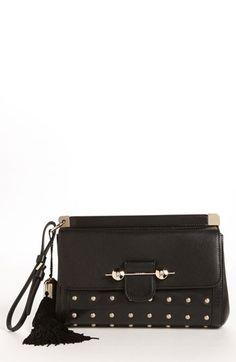 Jason Wu 'Daphne - Warrior' Leather Clutch #studded #black #clutch #bag