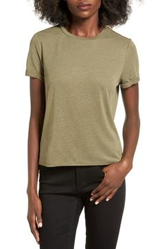 Free shipping and returns on BP. Cuffed Shrunken Tee at Nordstrom.com. A whisper of linen infuses just the right amount of drape into a casual tee styled with rolled cuffs and a slightly shrunken silhouette.