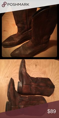 Frye ladies cowboy boots, 7.5 Ladies Frye cowboy boots, size 7.5. Nice pair of boots that have been broken in. Good condition. Frye Shoes Heeled Boots