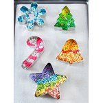 Cookie Cutter Melty Bead Ornaments Cowboy Christmas, Christmas Fun, Christmas Ornaments, Ornaments Ideas, Xmas, Melted Bead Crafts, Pony Bead Crafts, Kindergarten Crafts, Preschool Crafts