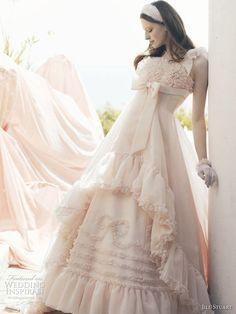 Pink bow ball gown wedding dresses by American fashion designer Jill Stuart