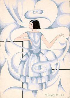 Madeleine Vionnet. Illustrated by Ernesto Thayaht,1922