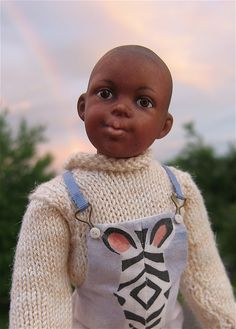 black boy doll by Jane Davis