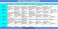 Committed to Get Fit: Insanity Max 30 Meal Plan and Prep