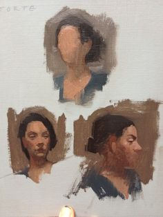 Quick sketch portrait painting, private collection
