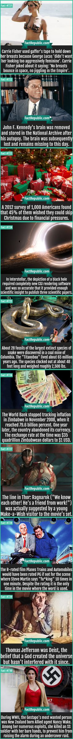 Some facts that might be cool to know
