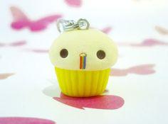 Kawaii Barfing Rainbow Cupcake, Polymer Clay Handmade, Cute Gift
