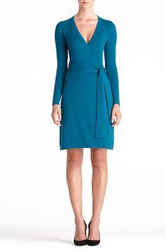 DVF   Linda Cashmere Dress In Slate Teal, Resort 2012/13: Zoom