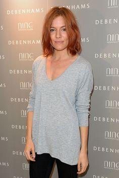 Sienna Miller's red hair.