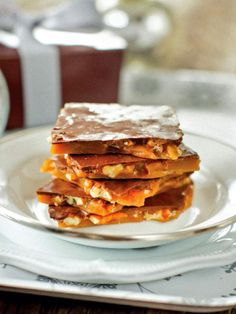 Take the traditional taste of toffee up a notch with the addition of real maple syrup. Topped with a layer of semisweet chocolate, this toffee is so irresistible that you'll want to box it up as gifts quickly before you're tempted to keep it all for yourself. Get the recipe.