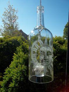 Large Repurposed/ Recycled Wine bottle lantern by Blumoonstudio, $18.00