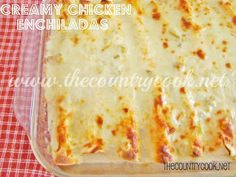 The Country Cook: Creamy Chicken Enchiladas