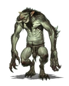 Male Troll - Pathfinder PFRPG DND D&D 3.5 5th ed d20 fantasy