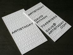 25 Classy Letterpress Business Cards | Design Inspiration | PSD Collector