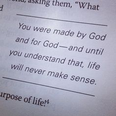 Don't  forget your purpose