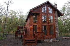 Hidden Hickory Cabin in Broken Bow, Oklahoma Hidden Hickory is a luxurious one bedroom, two bath cabin in the heart of Timber Creek Trails. The cabin featu