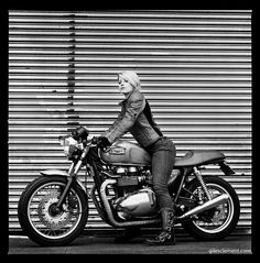 Triumph Cafe Racer Girl
