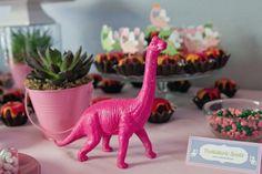 Pink Girly Dinosaur Birthday