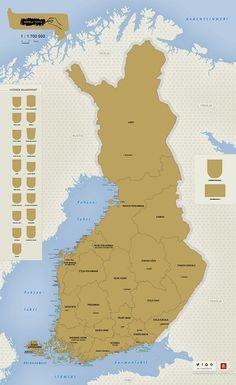 Raaputuskartta Suomi - tuotekuva