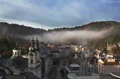 Karlovy Vary, Carlsbad, the spa town in west Bohemia, Czech Republic