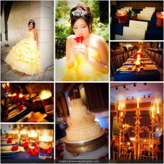 He theme is Beauty and The Beast and she fell in love with this cake!