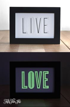 "Fifty Five Hi's ""Live/Love"" Print"