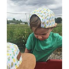 db1bc1a5 Baby and toddler flatbrim 5-panel hats from Jack & Winn Apparel Co.  Pineapple