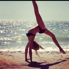 Tumble and dance along the beach