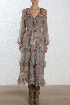 Zimmermann Unbridled Cascade Midi Dress fcdbdded3