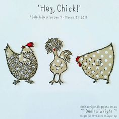 Hey Chick stamp set. Chicks stamped onto Neutrals Desinger Series Paper Stack Polka Dots, and fussy cut!