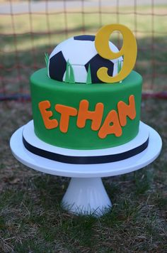 Soccer Birthday Cake  on Cake Central