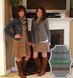 What I Wore-Mother/Daughter Fashion  #fashion, #over40fashion